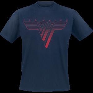 Van Halen - Classic Red Logo - T-Shirt - navy product image at Soundorabilia.com