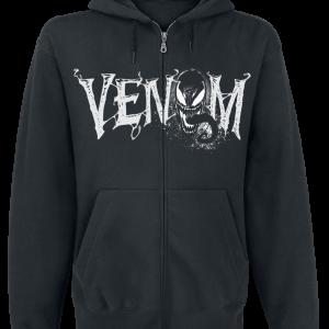 Venom (Marvel) - Furious Face - Hooded zip - black product image at Soundorabilia.com