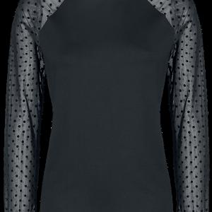Vive Maria - Wonder Tulle Shirt - Girls longsleeve - black product image at Soundorabilia.com