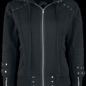 Vixxsin - Camari Hood - Girls hooded zip - black product image at Soundorabilia.com