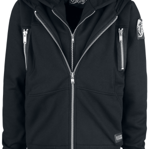 Vixxsin - Ivan Hood - Hooded zip - black product image at Soundorabilia.com