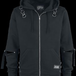 Vixxsin - Rhain Hood - Hooded zip - black product image at Soundorabilia.com