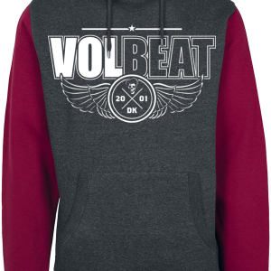 Volbeat - Let's Boogie - Hooded sweatshirt - red-grey product image at Soundorabilia.com