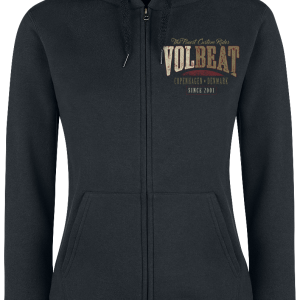 Volbeat - Louder And Faster - Girls hooded zip - black product image at Soundorabilia.com