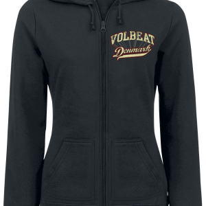 Volbeat - Rise From Denmark - Girls hooded zip - black product image at Soundorabilia.com