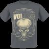 Volbeat - Skull Ornaments - T-Shirt - charcoal product image at Soundorabilia.com