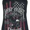 West Coast Choppers - Eagle Lace Tee - Girls Top - black product image at Soundorabilia.com