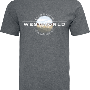 Westworld - Welcome To Westworld - T-Shirt - mottled charcoal product image at Soundorabilia.com