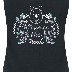 Winnie the Pooh - Green Leaves - Girls Top - black product image at Soundorabilia.com