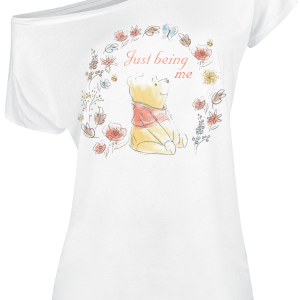 Winnie the Pooh - Just Being Me - Girls shirt - white product image at Soundorabilia.com