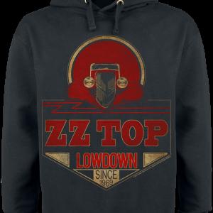 ZZ Top - Lowdown Since 1969 - Hooded sweatshirt - black product image at Soundorabilia.com