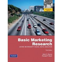 Basic Marketing Research Using Microsoft Excel Data Analysis by Alvin C Burns Book Used cover