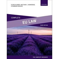 Complete Eu Law by Elspeth Berry Book Used cover