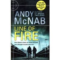 Line of Fire by Andy Mcnab Hardback Used cover