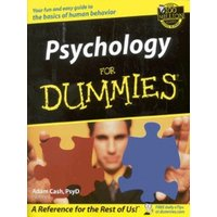 Psychology for Dummies by Adam Cash Paperback Used cover