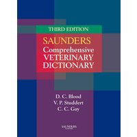 Saunders Comprehensive Veterinary Dictionary by Douglas C Blood Paperback Used cover