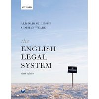 The English Legal System by Alisdair Gillespie Book Used cover