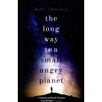 The Long Way to a Small Angry Planet by Becky Chambers Paperback Used cover