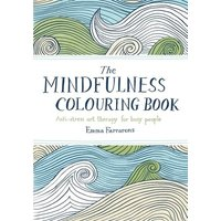 The Mindfulness Colouring Book by Emma Farrarons Paperback Used cover