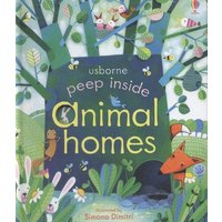 Usborne Peep inside Animal Homes by Anna Milbourne Book Used cover