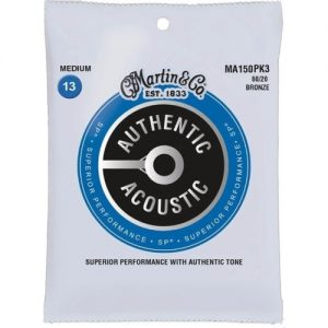 Martin Authentic Acoustic SP 80/20 Bronze 3 Pack Medium 13-56 at Gear 4 Music Image