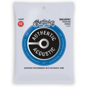 Martin Authentic Acoustic SP Phosphor Bronze 3 Pack Light 12-54 at Gear 4 Music Image