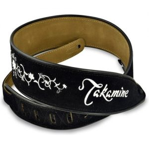 Takamine Guitar Strap Black Suede & Embroidered Grassflower at Gear 4 Music Image
