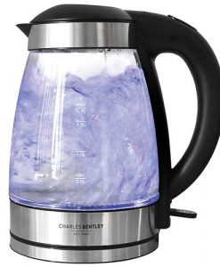 1.7 Litre LED Illuminated Glass Electric Kettle 360 Cordless