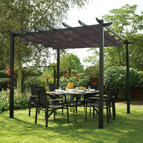 Rowlinson Latina 3x3 Grey Sun Canopy YouGarden