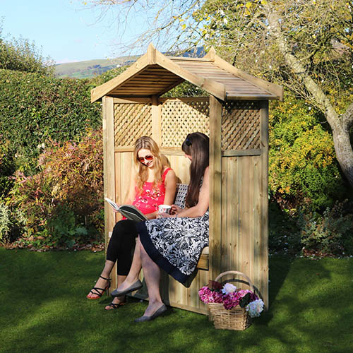 Dorset Arbour with Storage Box and Seat Cushion YouGarden