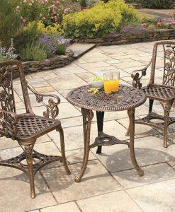 3-pc Rose Arm Chair Patio Set - Bronze