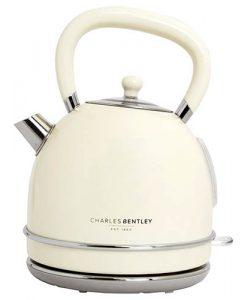3000W 1.7 Litre Cream Dome Kettle Fast Boil 360 Swivel Base