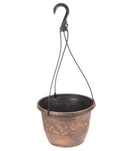 "Acorn Hanging Basket 10""   WITH HANGER"