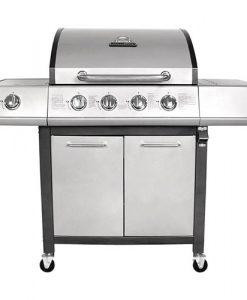 Charles Bentley 5 Burner Premium Gas BBQ  (4 x Burner + 1 Side Burner) - Grey