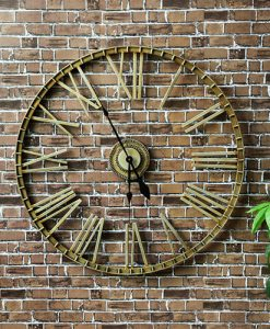 Charles Bentley Extra Large Wrought Iron Wall Clock
