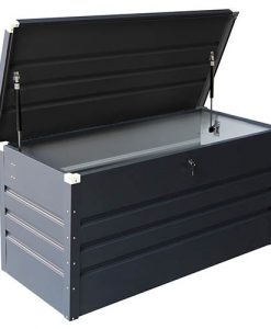 Charles Bentley Metal Storage Chest w/ Lock & Key Waterproof Seal Hydraulic Lid