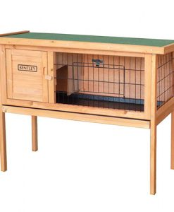Charles Bentley Wooden Raised Rabbit Guinea Pig Hutch with Run & Cleaning Tray