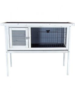 Charles Bentley Wooden Raised Rabbit Guinea Pig Hutch with Run & Cleaning Tray G
