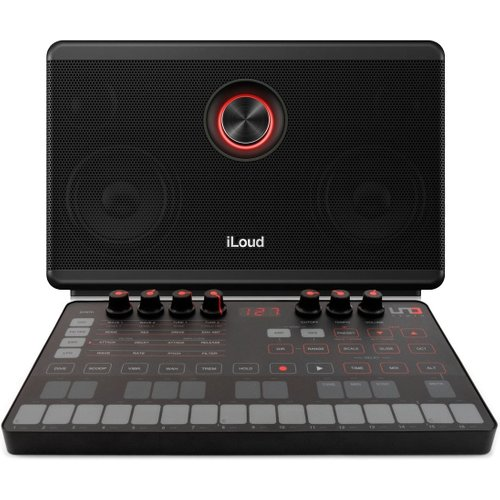 IK Multimedia UNO Synth with iLoud Portable Bluetooth Speaker at Gear 4 Music Image