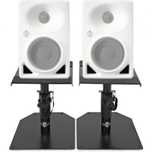 Neumann KH 80 DSP Studio Monitor Pair White with Monitor Stands at Gear 4 Music Image