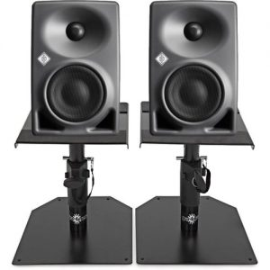Neumann KH 80 DSP Studio Monitor Pair with Monitor Stands at Gear 4 Music Image