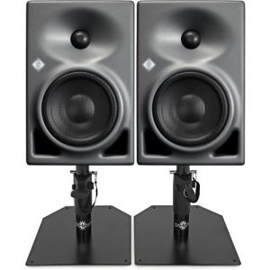 Neumann KH120A Active Studio Monitor Pair with Monitor Stands at Gear 4 Music Image