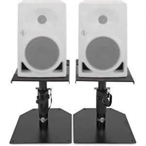 Neumann KH120AW Active Studio Monitor Pair White with Monitor Stands at Gear 4 Music Image
