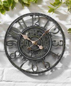 """Newby Mechanical Clock - Verdigris 12"""" - 5065011MO"""