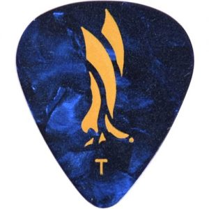 PRS Celluloid Blue Pearloid Thin Picks Pack of 12 at Gear 4 Music Image