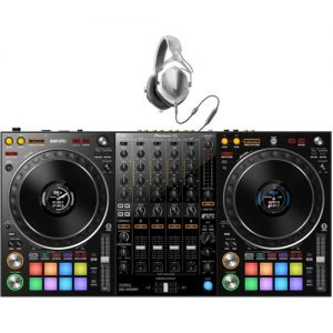 Pioneer DDJ-1000SRT 4-Channel Serato DJ Controller w/V-Moda M-100s at Gear 4 Music Image