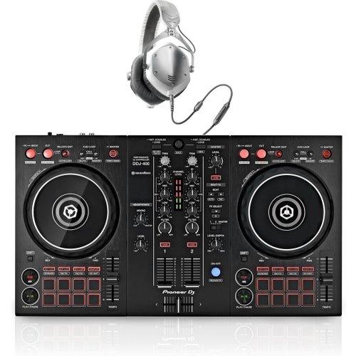Pioneer DDJ-400 Rekordbox Controller with V-Moda M-100 Headphones at Gear 4 Music Image