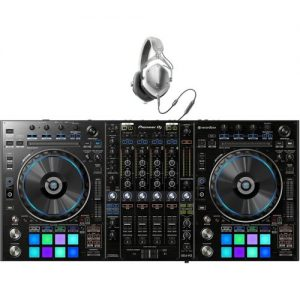 Pioneer DDJ-RZ Professional DJ Controller with V-Moda Headphones at Gear 4 Music Image