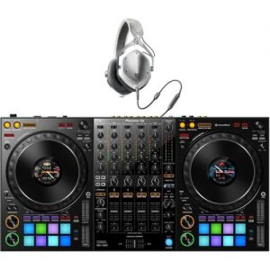 Pioneer DJ DDJ-1000 Rekordbox DJ Controller with V-Moda Headphones at Gear 4 Music Image