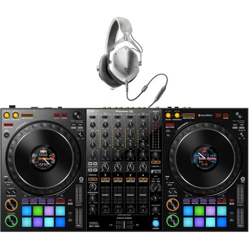 Pioneer DJ DDJ-1000 Rekordbox DJ Controller with V-Moda Headphones at Gear 4 Music Image